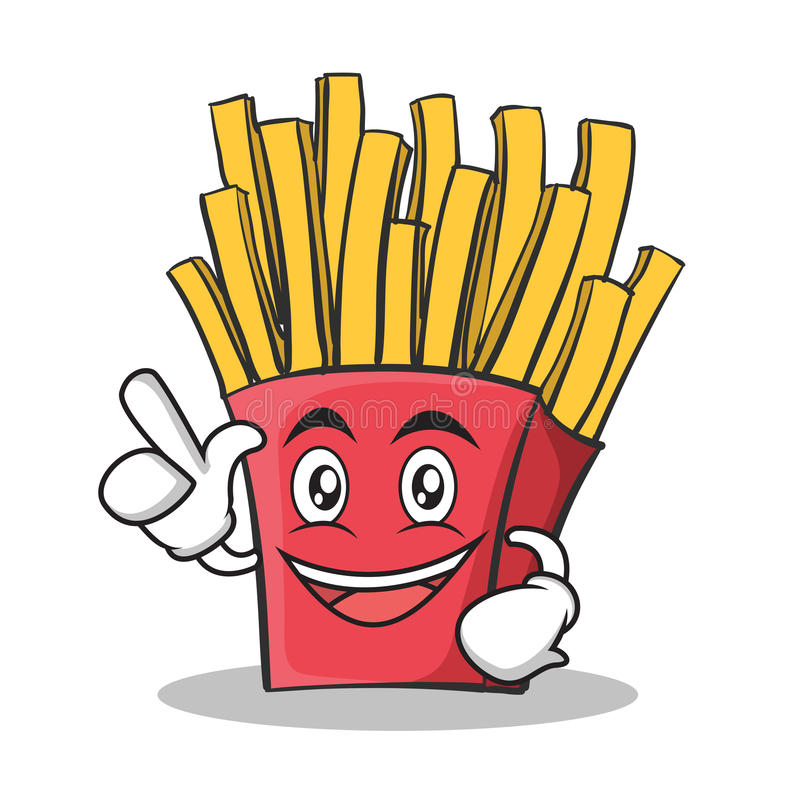 Have an idea french fries cartoon character stock illustration
