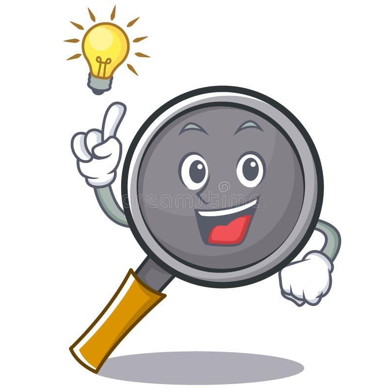Have an idea frying pan cartoon character. Vector illustration vector illustration