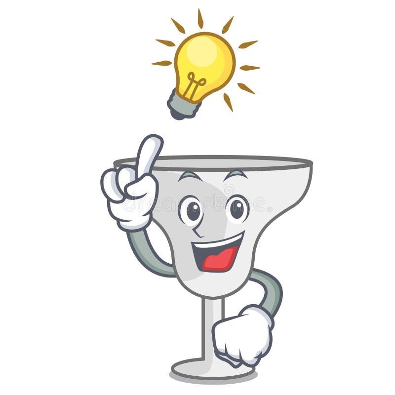 Have an idea margarita glass mascot cartoon. Vector illustration vector illustration