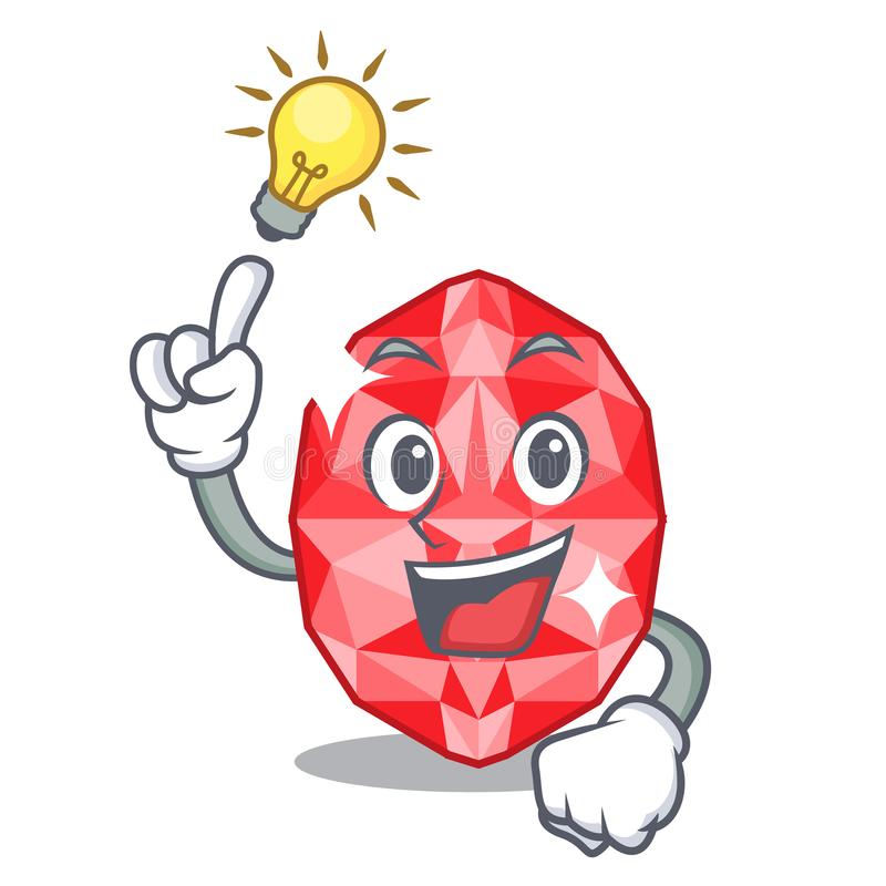 Have an idea ruby gems in the mascot shape. Vector illustration royalty free illustration