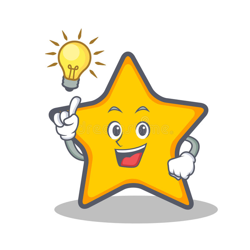 Have an idea star character cartoon style stock illustration