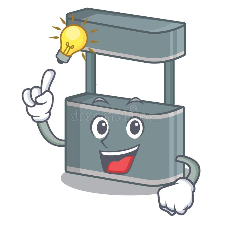Have an idea toy trade stand on a mascot. Vector illustration royalty free illustration