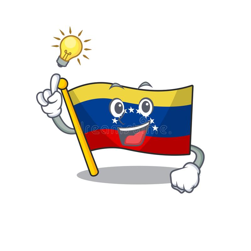 Have an idea venezuelan flag hoisted on mascot pole vector illustration