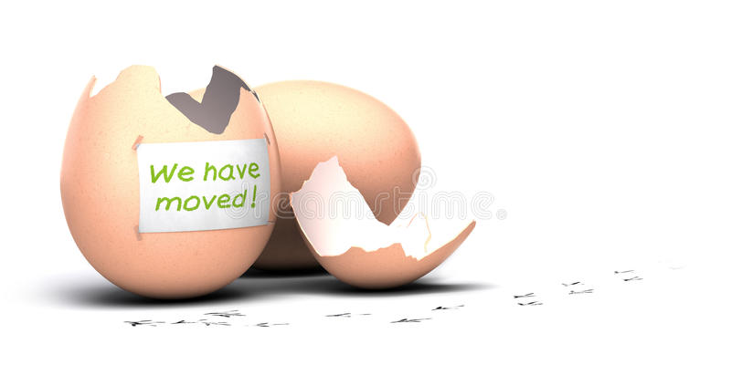 We have moved announcement vector illustration