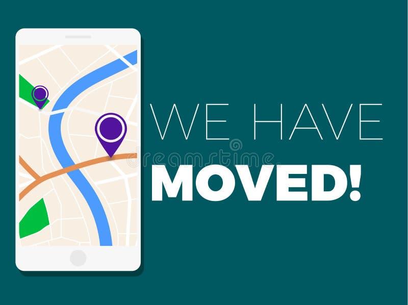 We have moved illustration vector illustration