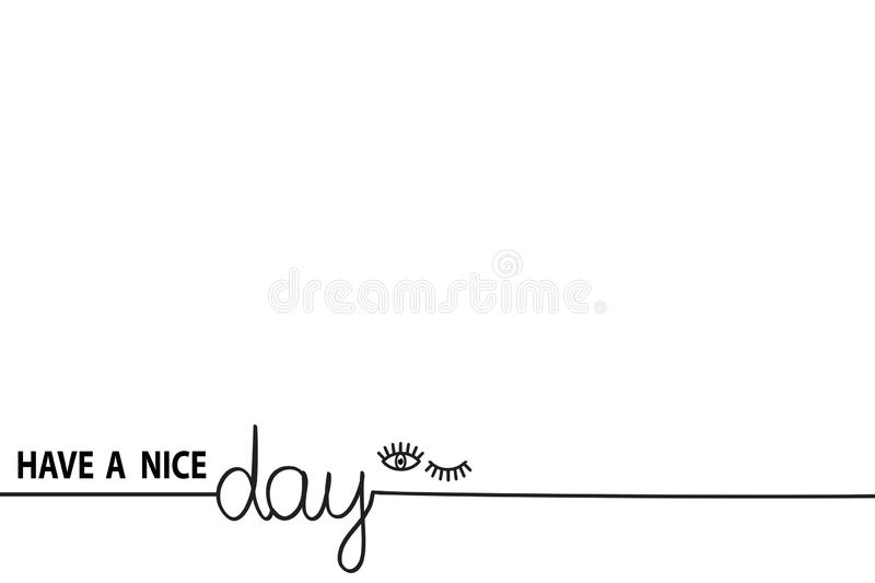 Have a nice day Enjoy and Chill Just relax text hand drawn Summer holiday slogan text quote line pattern handwritten banner stock illustration