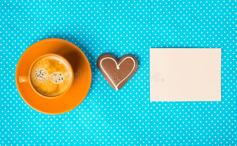 Have a nice day, good morning with cup of coffee royalty free stock photo