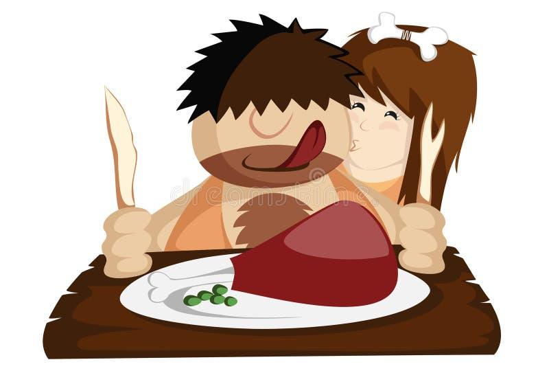 Have a Paleo Dinner! royalty free illustration