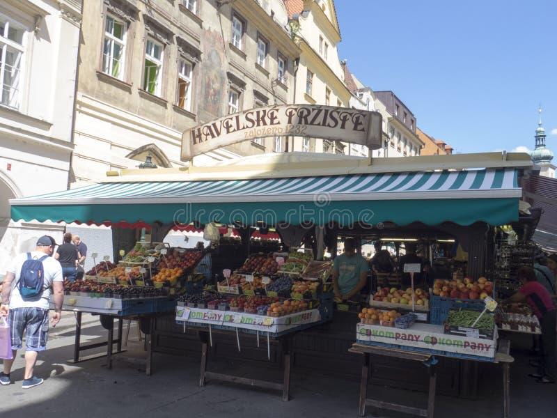 Havel` s Markt, Praag stock afbeelding