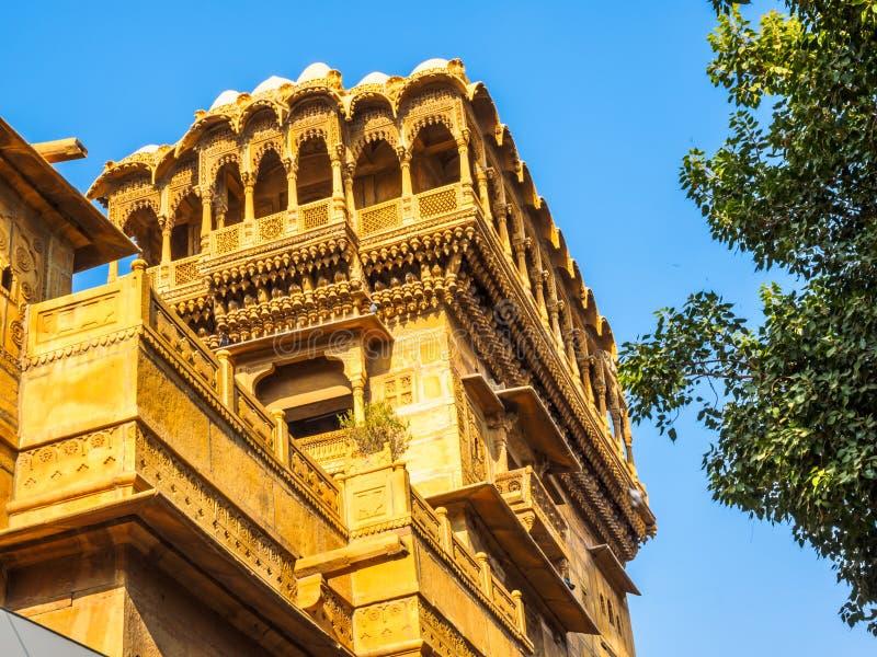 Haveli在Jaisalmer 免版税库存图片