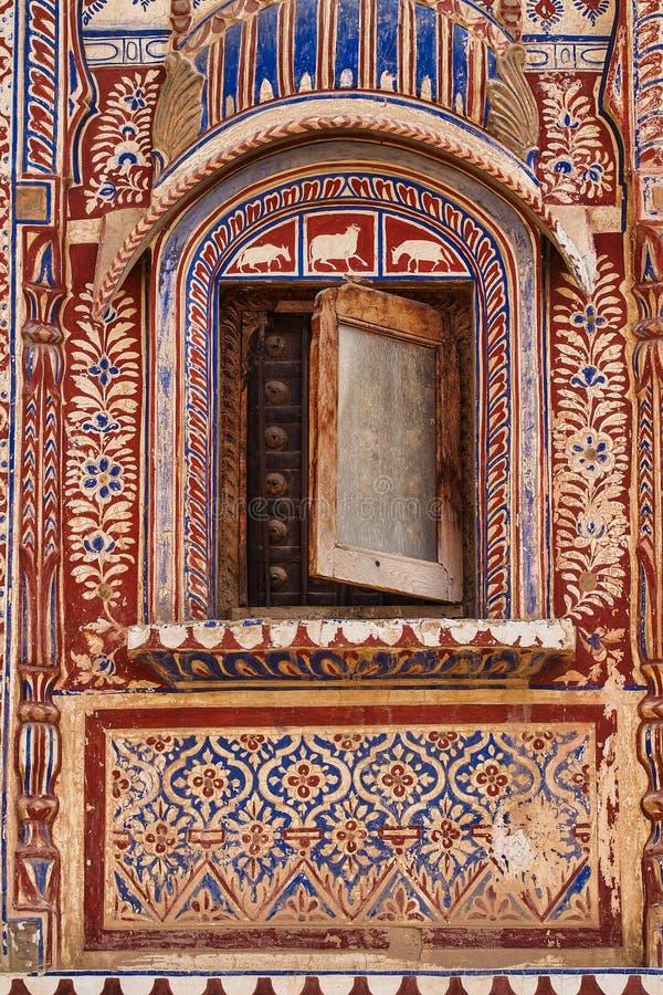 Haveli em Fatehpur, Rajasthan na Índia norte imagem de stock