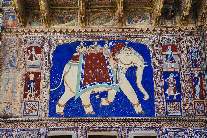 Haveli em Fatehpur, Rajasthan na Índia norte fotografia de stock royalty free