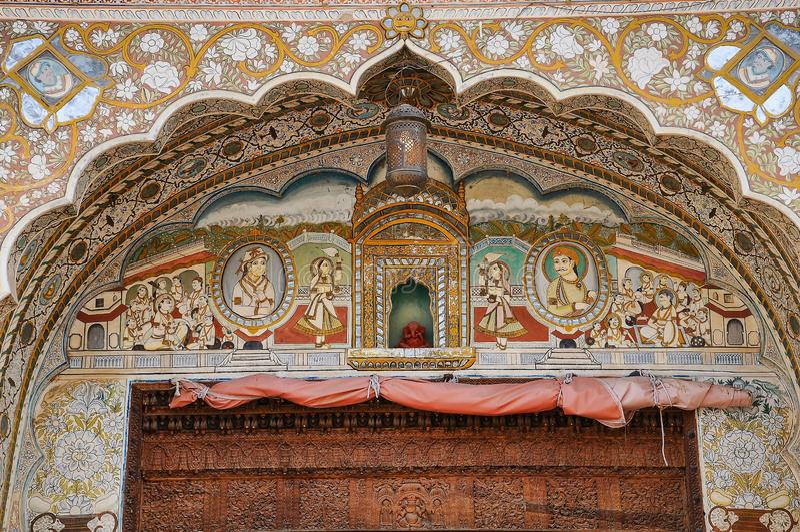 Haveli em Fatehpur, Rajasthan no norte da Índia fotografia de stock royalty free