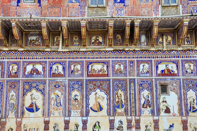 Haveli i Fatehpur, Rajasthan i norr Indien royaltyfri foto
