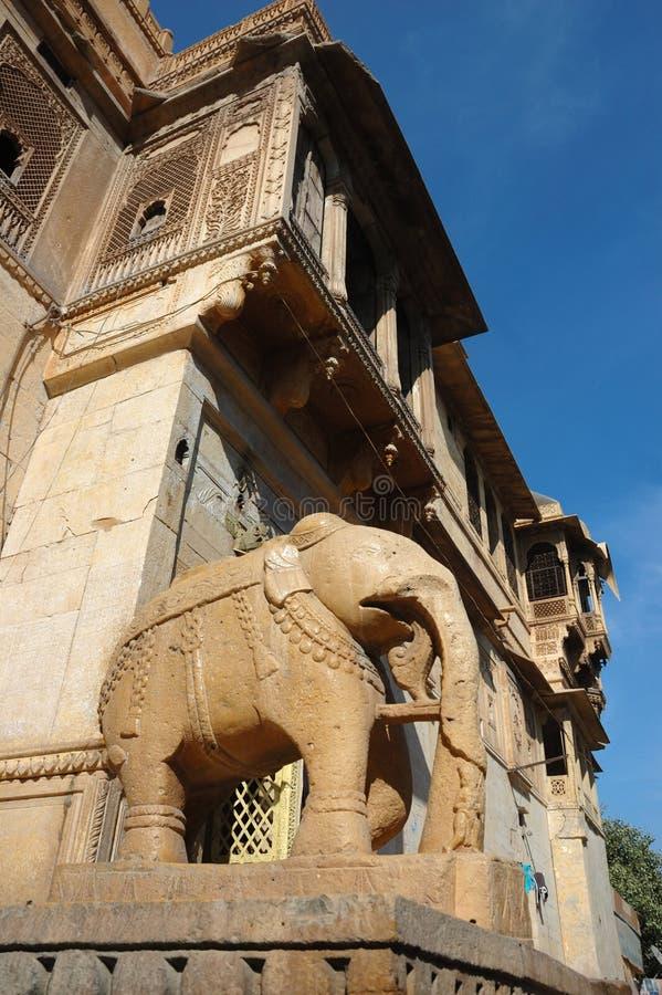 Haveli ornamentado bonito, casa tradicional velha do rajastani, India fotografia de stock royalty free