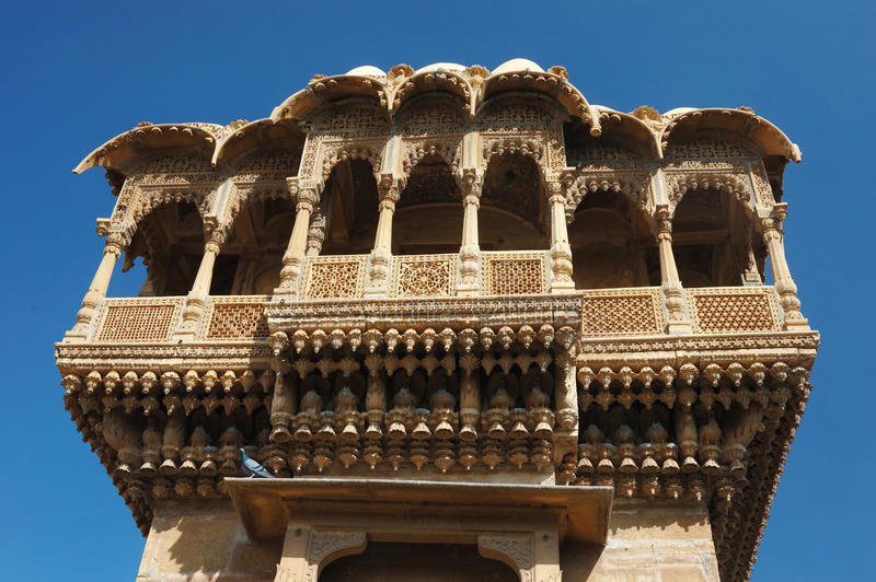 Haveli (private Villa) in Jaisalmer goldener Stadt, Rajasthan, Indi stockfotos