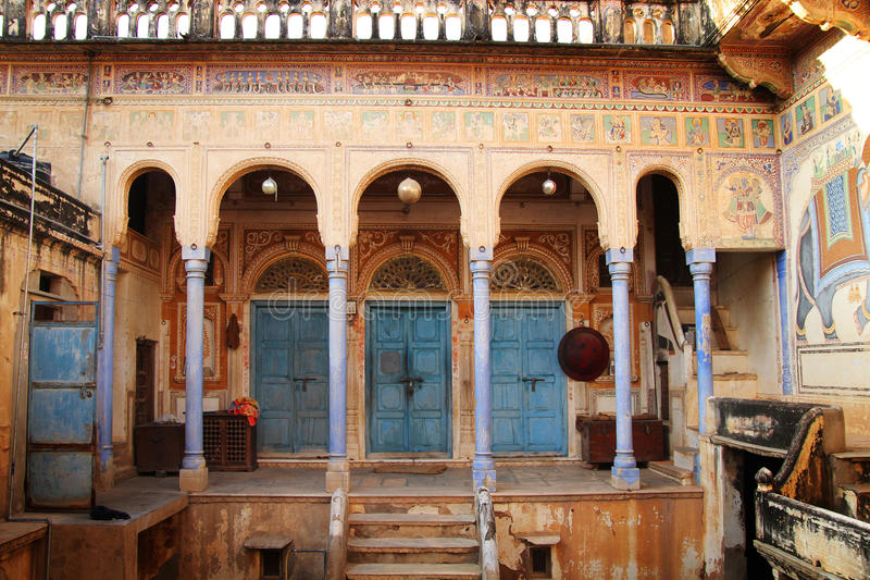 Havelli en la India fotografía de archivo