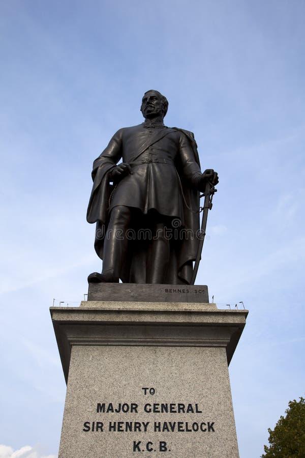 havelock henry London sir kwadratowa statua trafalgar fotografia royalty free