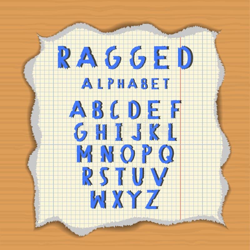 Haveloos document alfabet royalty-vrije illustratie