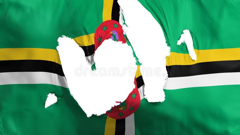 Haveloze Dominica vlag vector illustratie