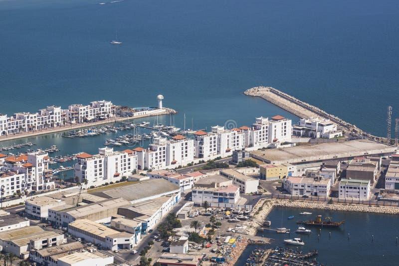 Haven in Agadir stock afbeeldingen