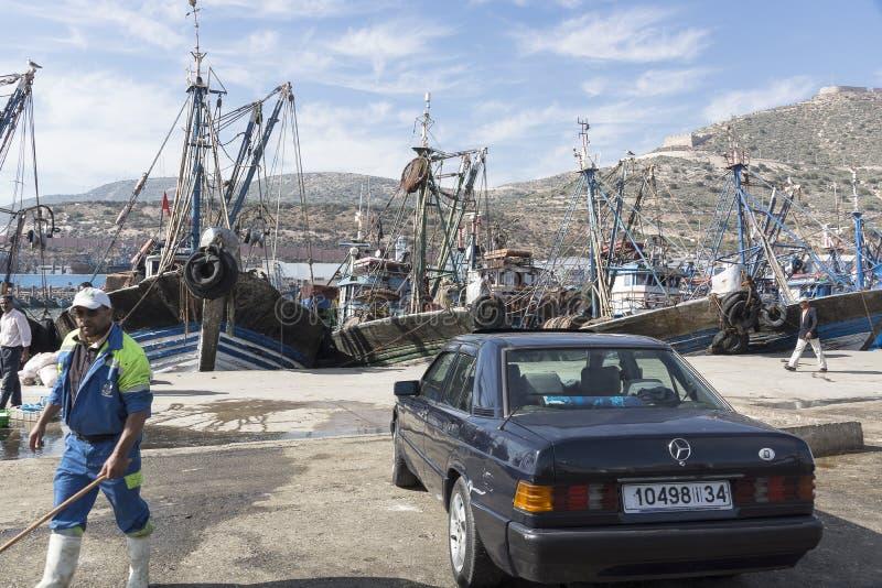 haven in Agadir royalty-vrije stock foto
