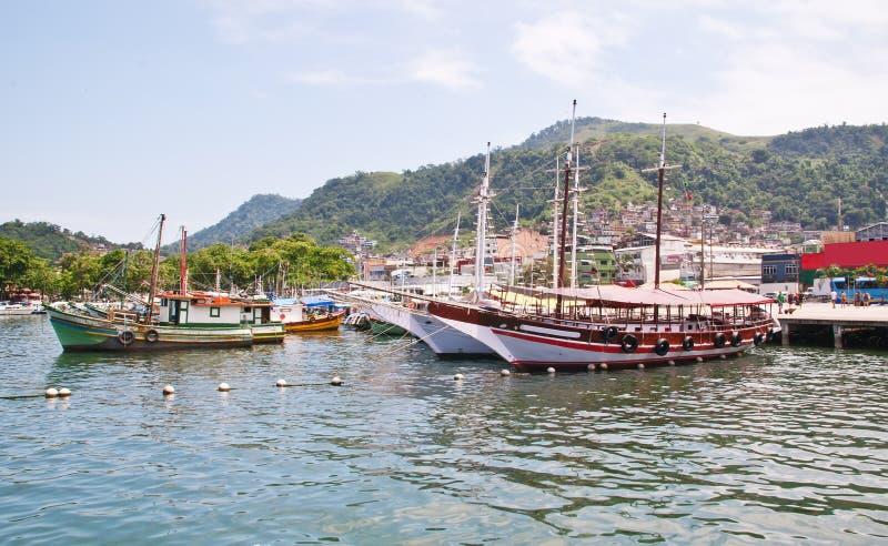 Haven in Angra Dos Reis. Rio de Janeiro royalty-vrije stock afbeeldingen