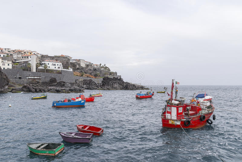 Haven in Camara de Lobos stock afbeeldingen