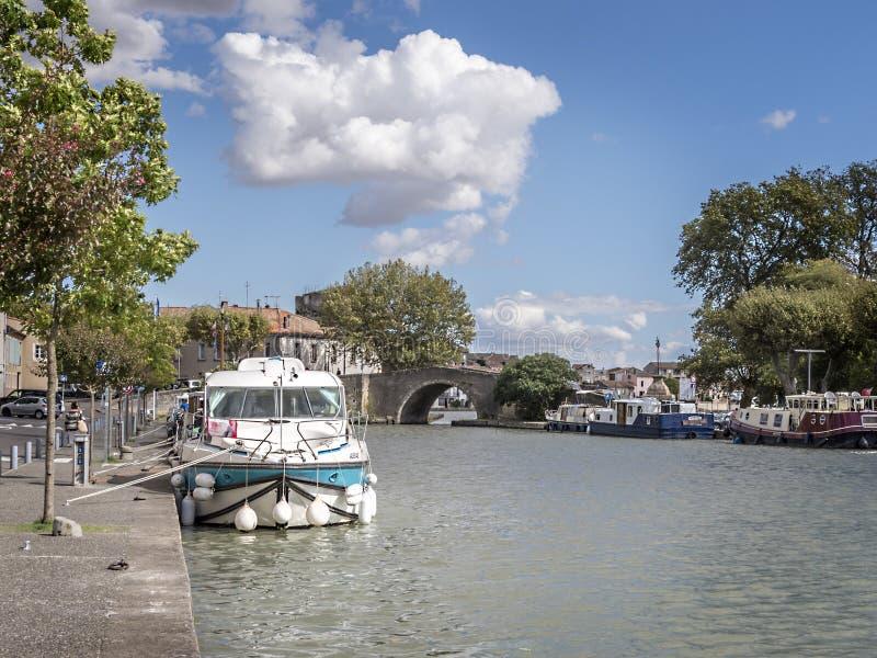 Haven Castelnaudary royalty-vrije stock foto's