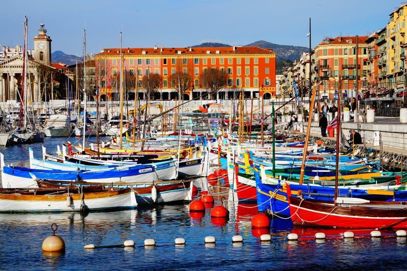 Haven DE Nice, Frankrijk royalty-vrije stock afbeelding