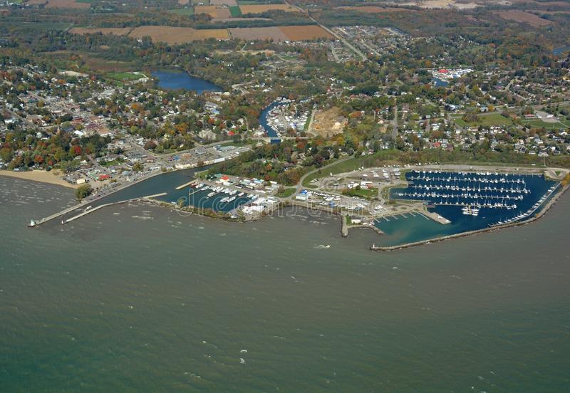 Haven Dover Ontario, lucht royalty-vrije stock foto