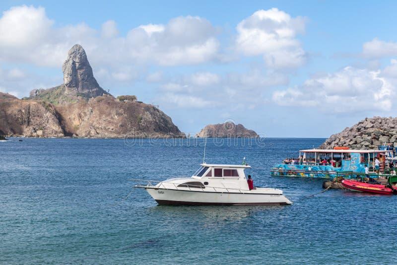 Haven en Pico Hill Fernando de Noronha Brazil stock afbeelding