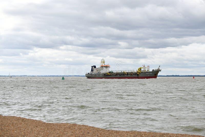 Haven in Felixstowe het UK, schipbaggermachine royalty-vrije stock afbeelding