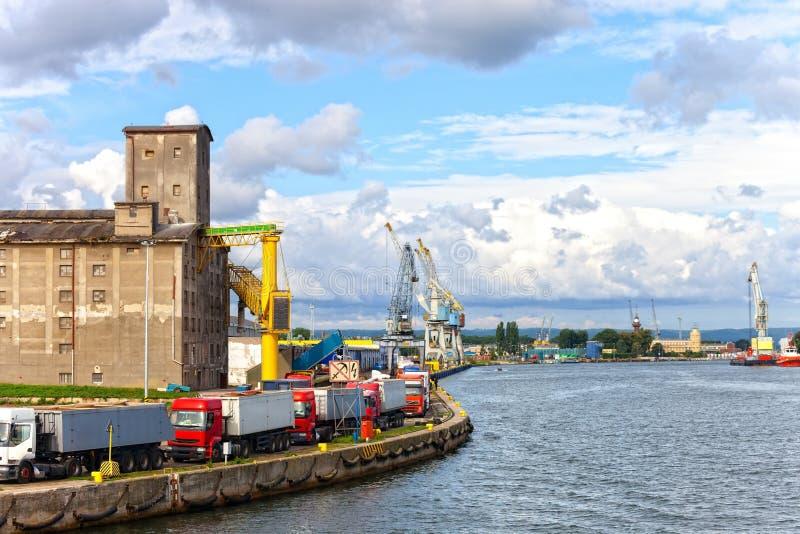 Haven in Gdansk stock afbeelding