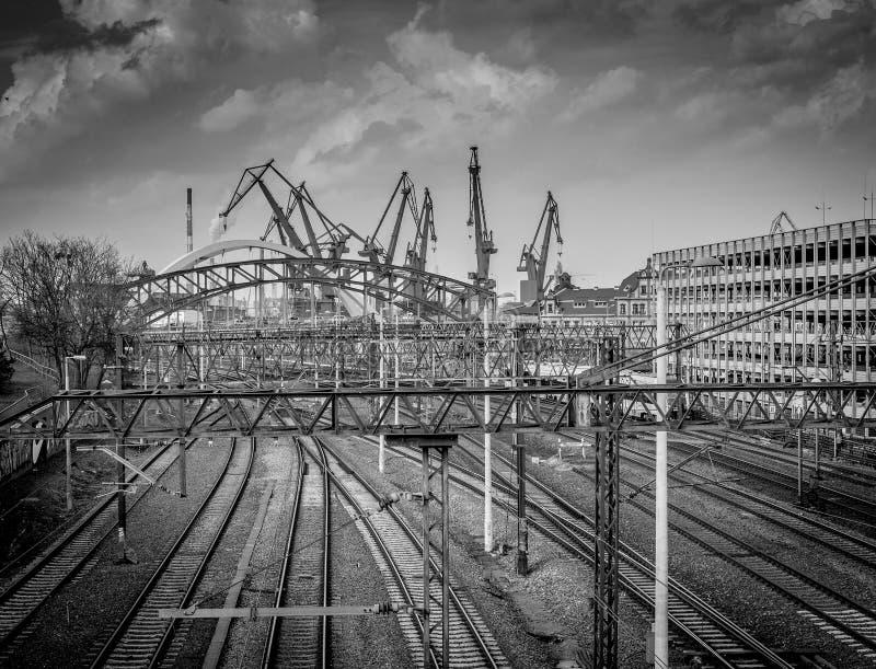 Haven in Gdansk stock fotografie