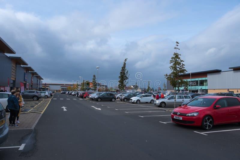 Haven Glasgow Retail Park in Inverclyde Schotland stock afbeelding