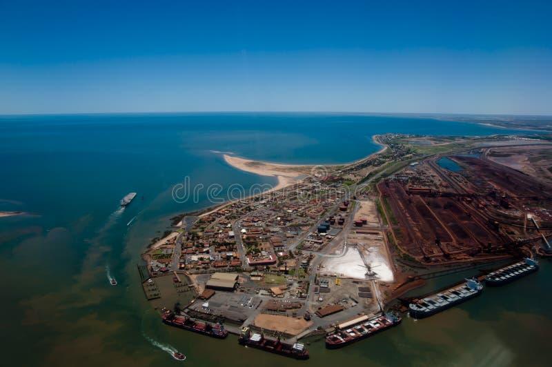 Haven Hedland - Australië stock foto