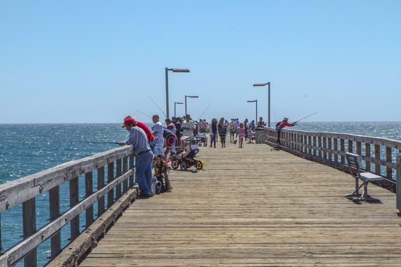 Haven Hueneme Pier Fishing stock afbeelding