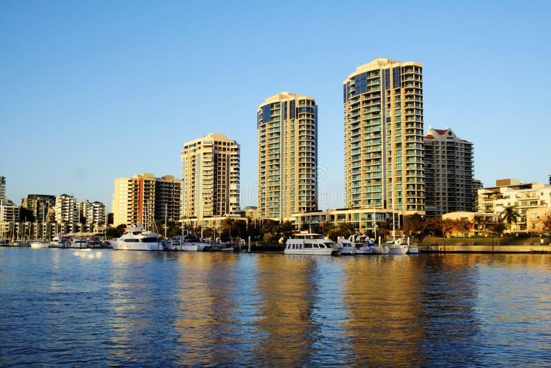 Haven Jachthaven Brisbane Australië stock foto