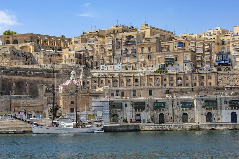 Haven in La Valletta, Malta royalty-vrije stock foto