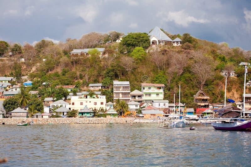 Haven in Labuan Bajo, Indonesië stock afbeeldingen