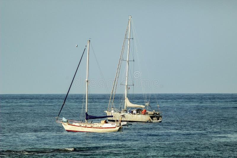 Haven in Los Cristianos toevluchtstad in Tenerife, Canarische Eilanden, Spanje stock afbeeldingen