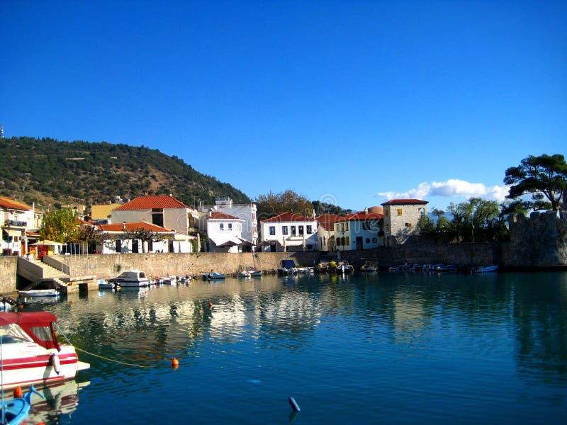 Haven, Nafpakto Griekenland royalty-vrije stock afbeeldingen