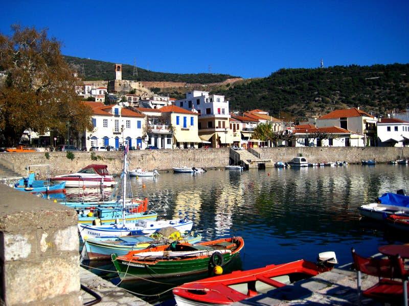 Haven, Nafpakto Griekenland stock fotografie