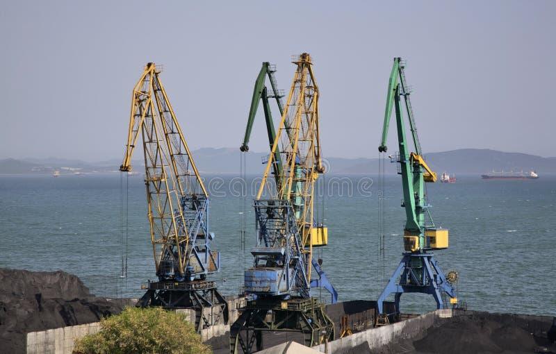 Haven in Nakhodka Primorsky Krai Rusland stock foto