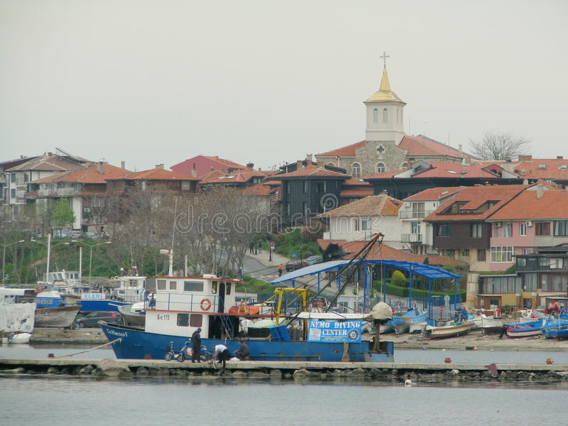 Haven in Nessebar royalty-vrije stock afbeelding