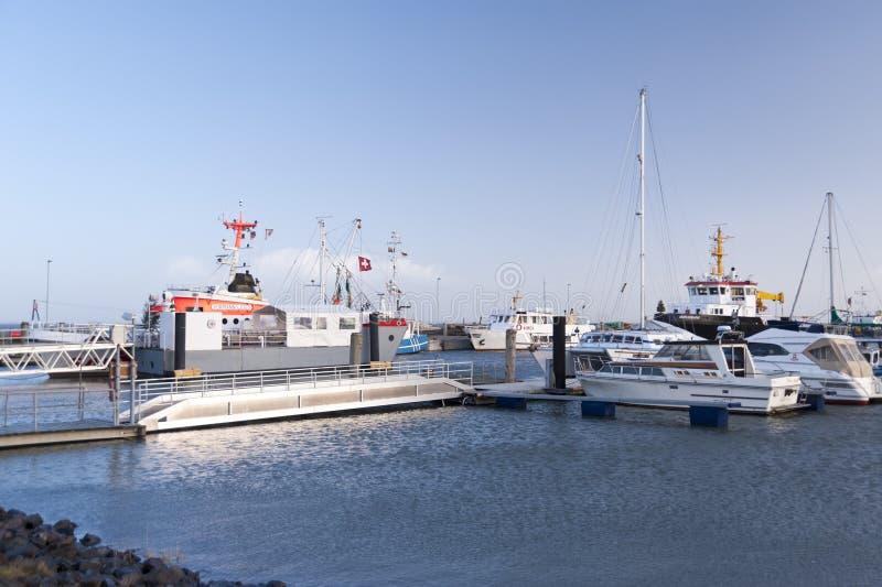 Haven op Amrum royalty-vrije stock afbeeldingen