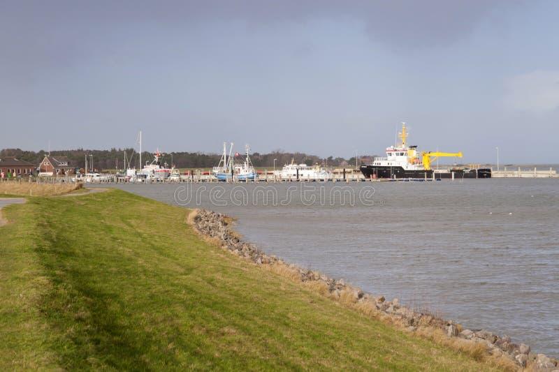 Haven op Amrum royalty-vrije stock afbeelding