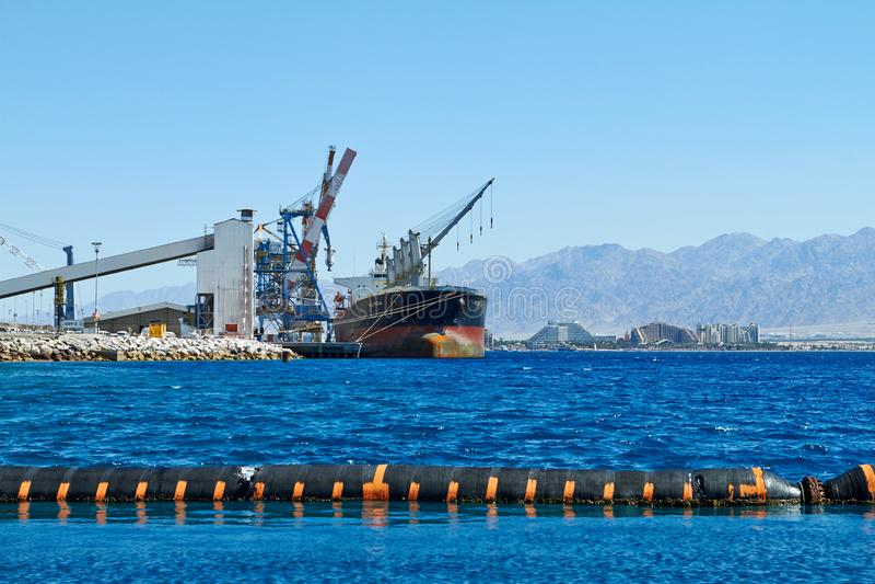Haven op de kust royalty-vrije stock foto