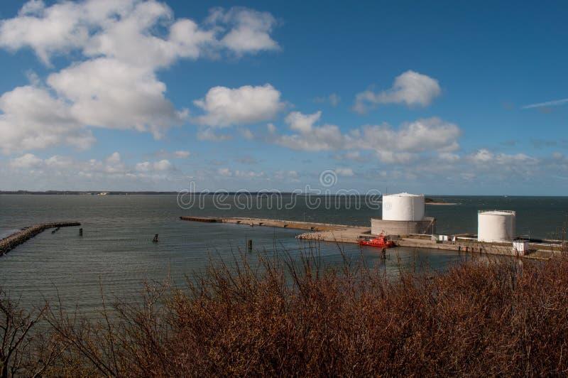 Haven op Masnedoe dichtbij Vordingborg in Denemarken royalty-vrije stock afbeeldingen